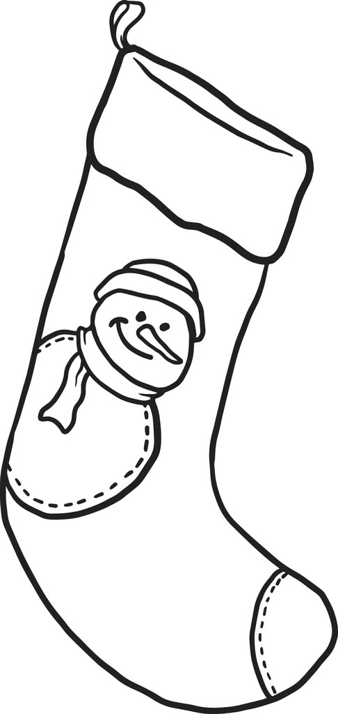 Printable Christmas Stocking Coloring Page For Kids 2 Supplyme