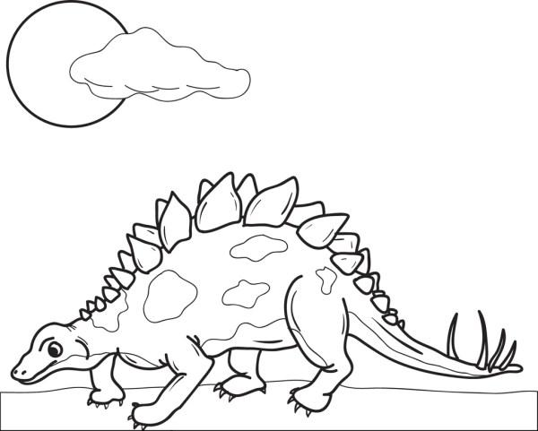 stegosaurus coloring page # 4