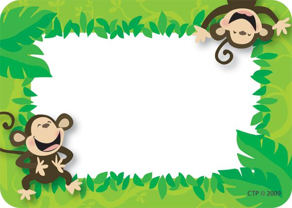 Creative Teaching Press Monkey Business Name Tags