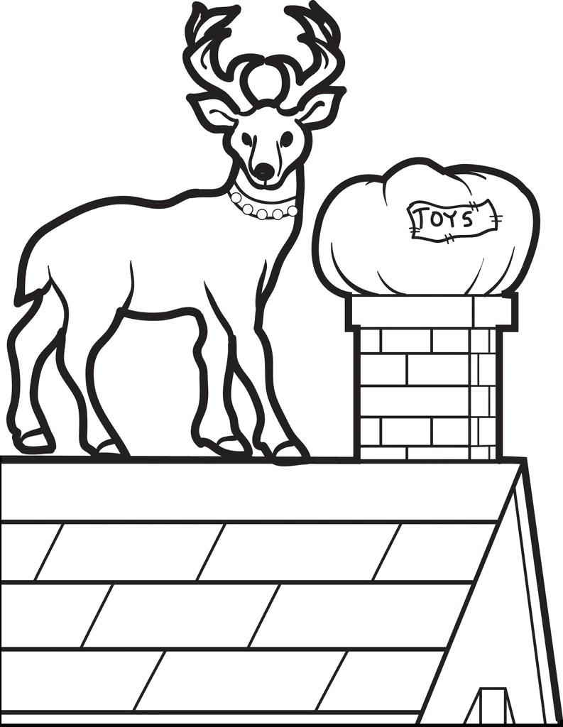 Printable Reindeer Coloring Page For Kids 4 Supplyme