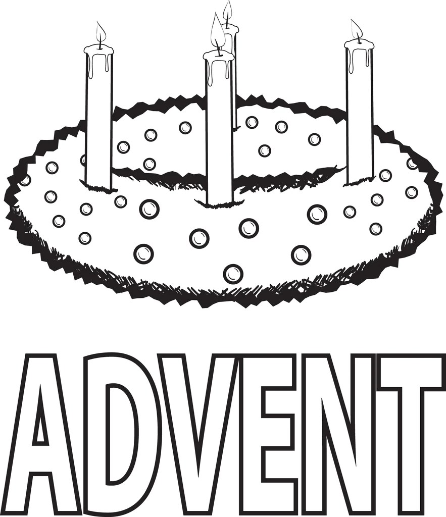 Printable Advent Wreath Coloring Page for Kids – SupplyMe [ 1024 x 883 Pixel ]