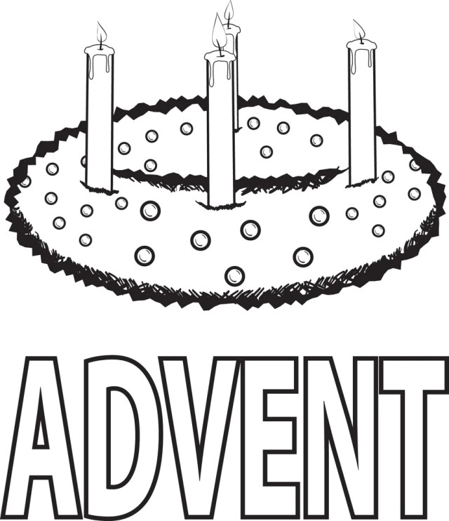 Printable Advent Wreath Coloring Page for Kids – SupplyMe