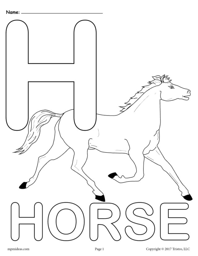 Letter H Alphabet Coloring Pages - 10 Printable Versions!