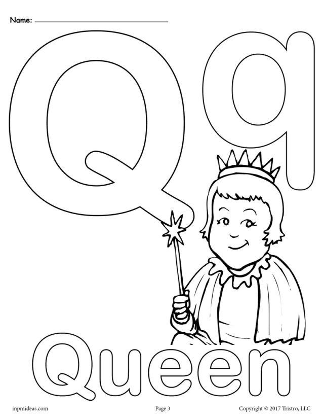 Letter Q Alphabet Coloring Pages - 16 Printable Versions! – SupplyMe