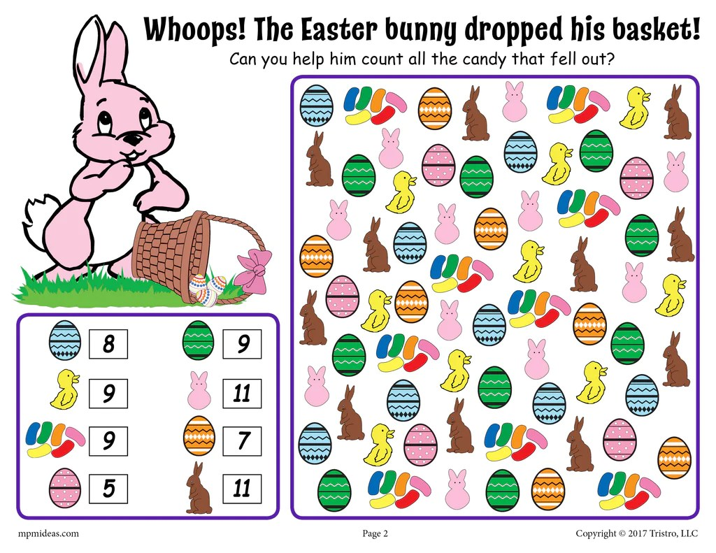 Easter I Spy - Printable Easter Counting Worksheet! – SupplyMe [ 791 x 1024 Pixel ]