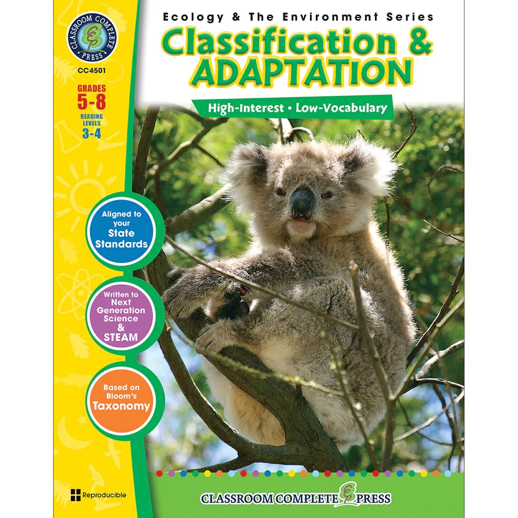 small resolution of Classroom Complete Press Ecology \u0026 The Environment Series Classification \u0026  Adaptation   CCP4501 – SupplyMe