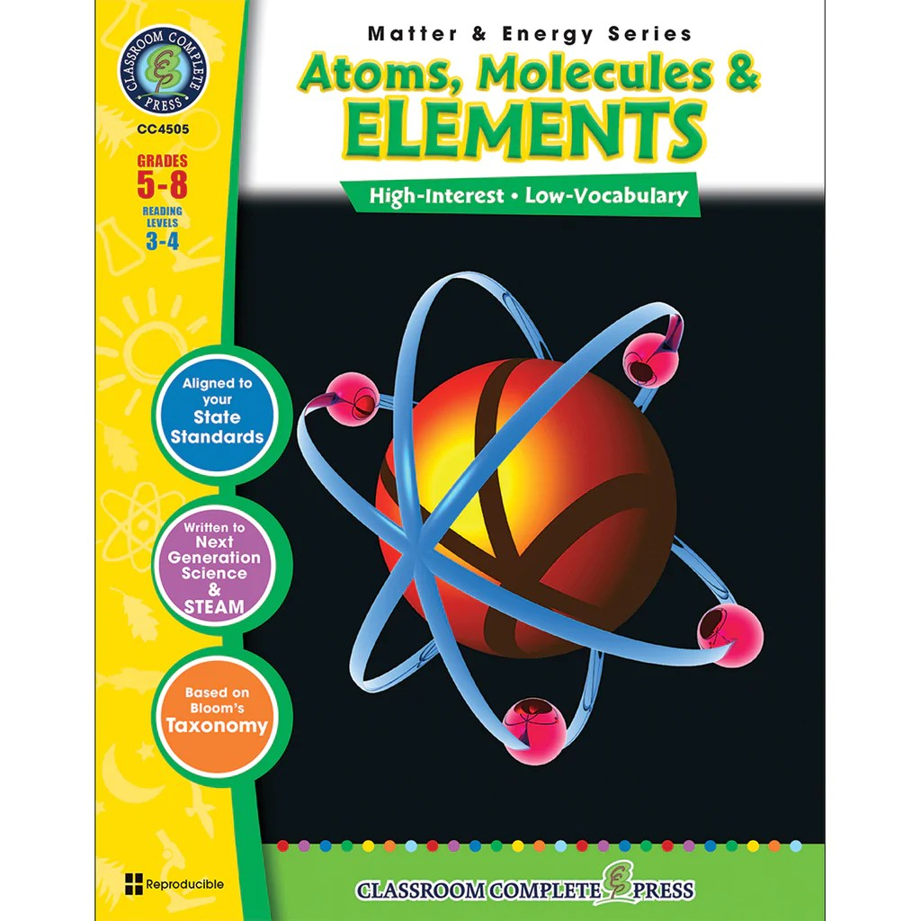 hight resolution of Classroom Complete Press Matter \u0026 Energy Series Atoms Molecules \u0026 Elements    CCP4505 – SupplyMe