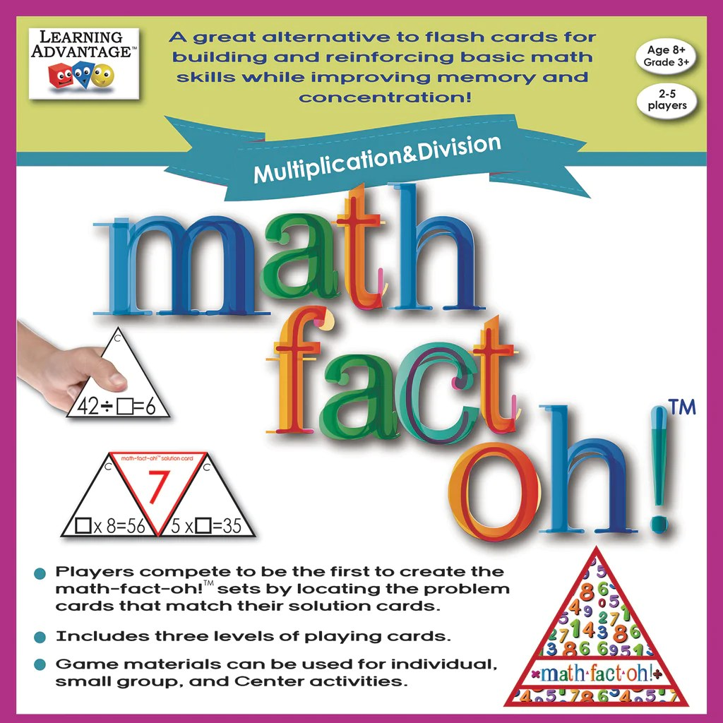 small resolution of Learning Advantage math-fact-oh!™ Multiplication \u0026 Division   CTU2167 –  SupplyMe