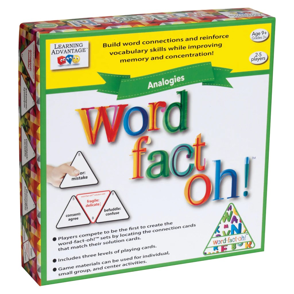 Learning Advantage word-fact-oh™ Analogies   CTU2191 – SupplyMe [ 1024 x 1024 Pixel ]