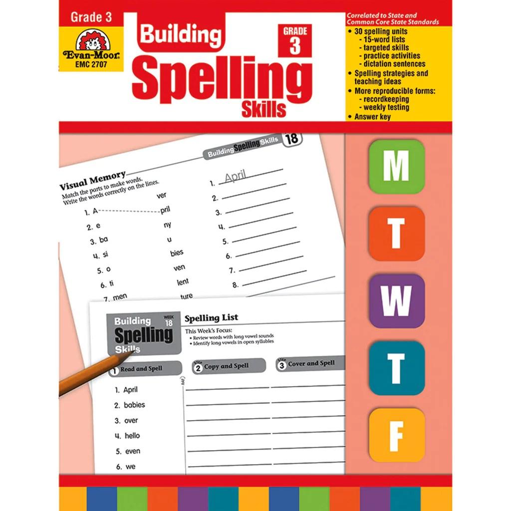 hight resolution of Evan-Moor Building Spelling Skills