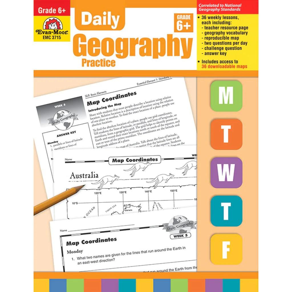 medium resolution of Evan-Moor Daily Geography Practice