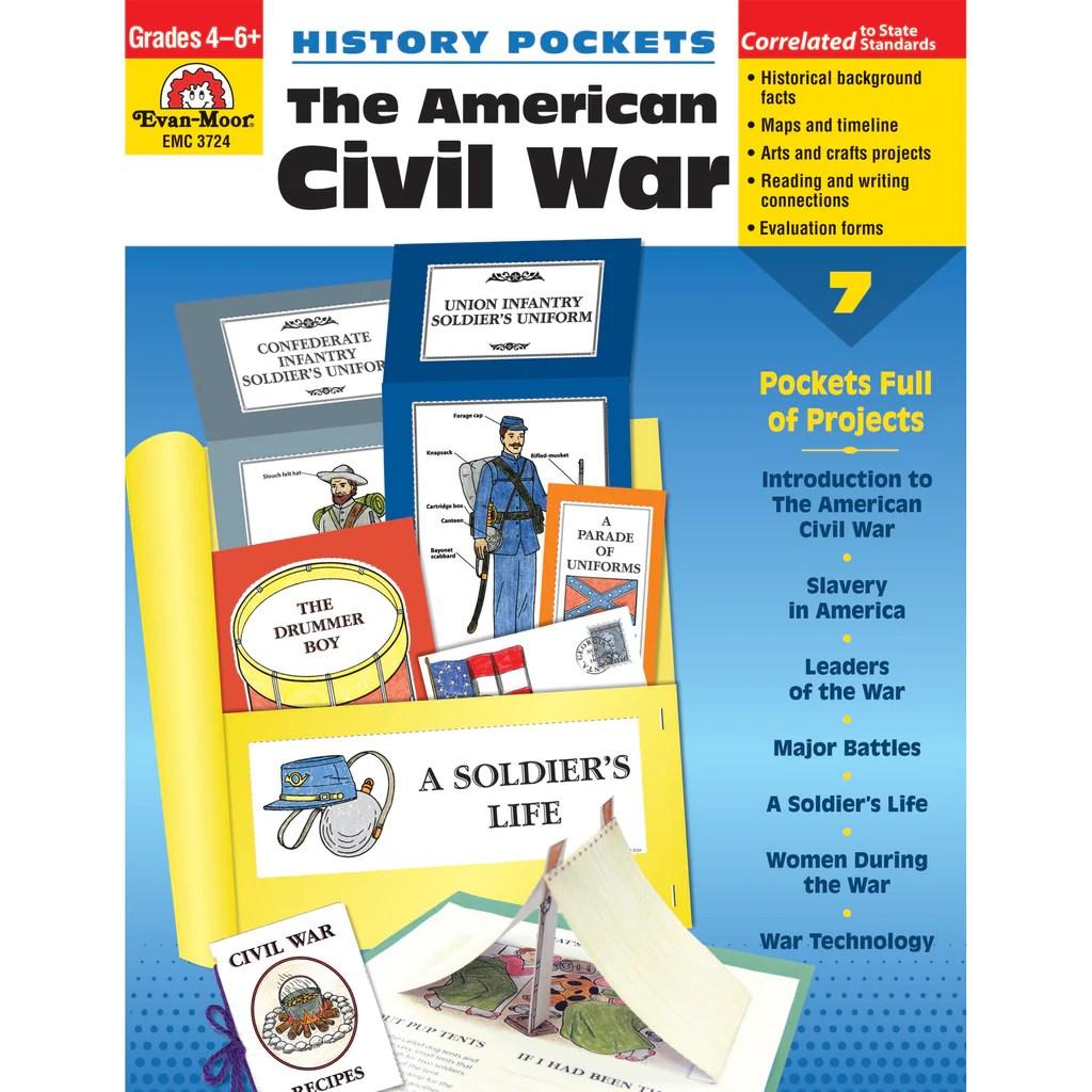 Evan-Moor History Pockets: The American Civil War   EMC3724 – SupplyMe [ 1024 x 1024 Pixel ]