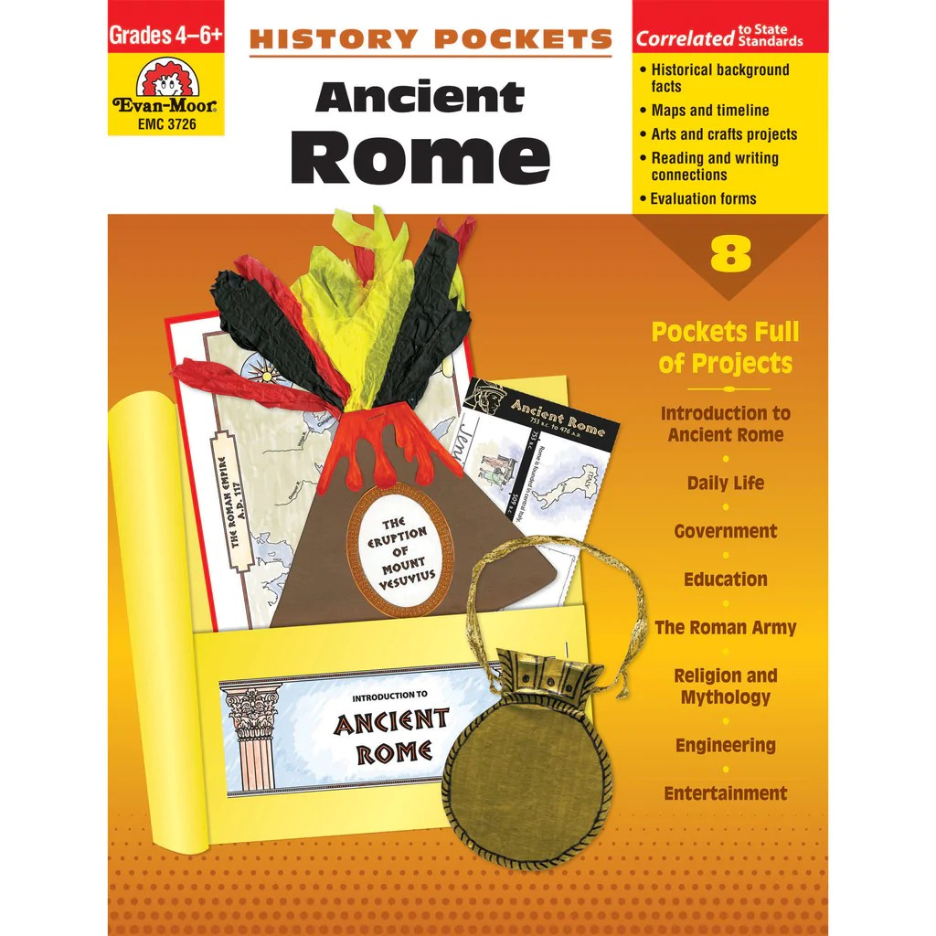 Evan-Moor History Pockets: Ancient Rome   EMC3726 – SupplyMe [ 1024 x 1024 Pixel ]