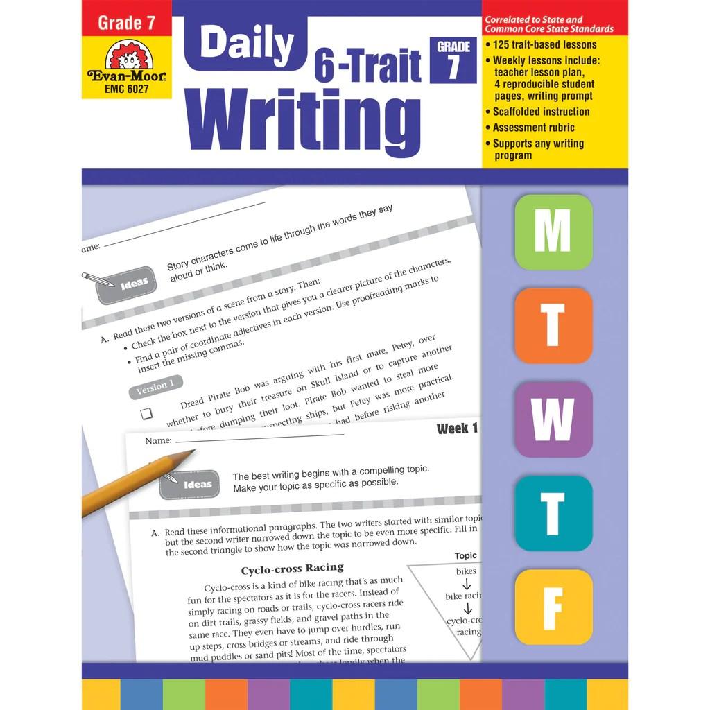 medium resolution of Evan-Moor Daily 6-Trait Writing