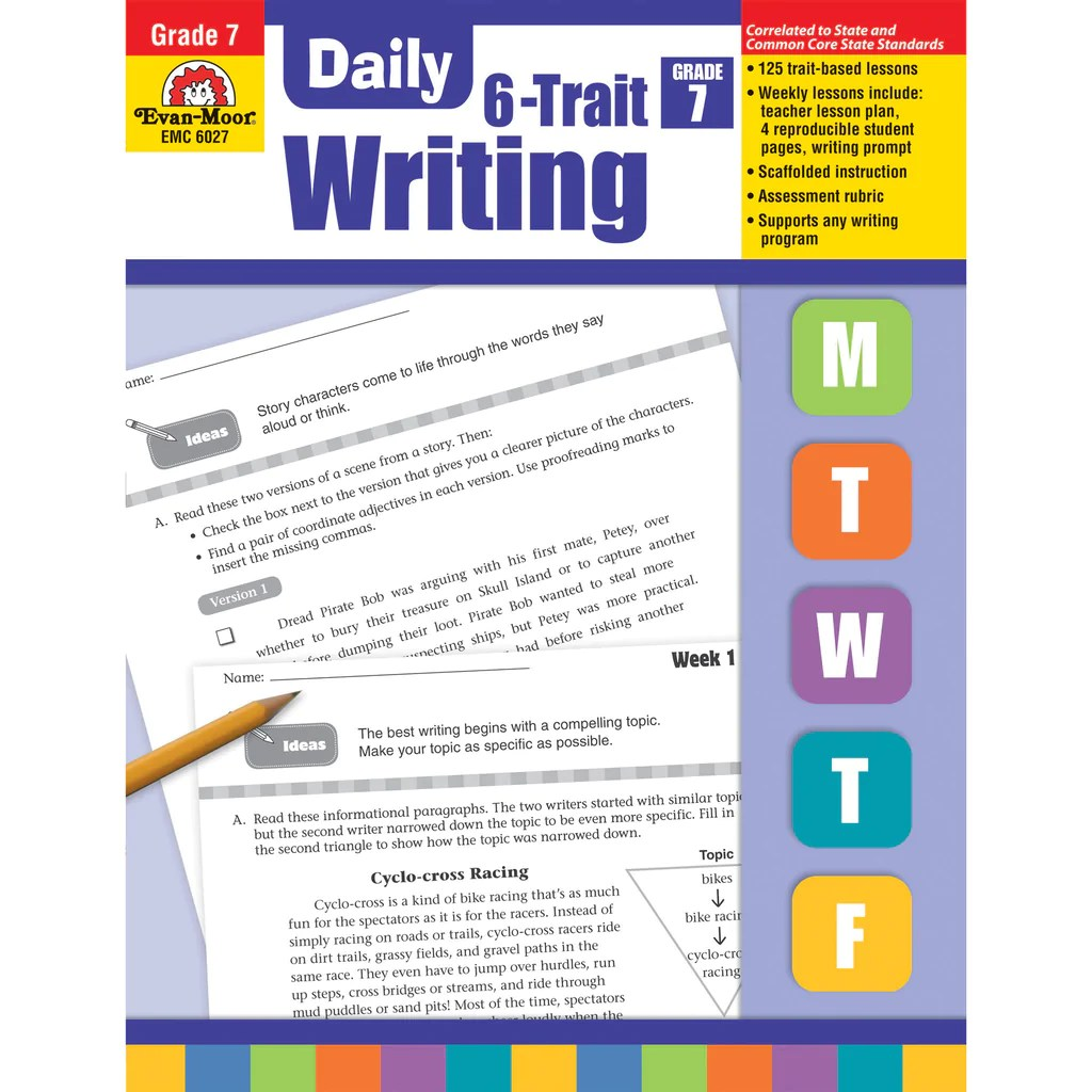 small resolution of Evan-Moor Daily 6-Trait Writing