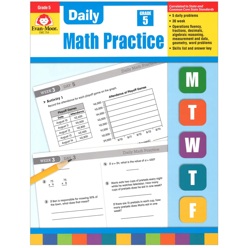 medium resolution of Evan-Moor Daily Math Practice