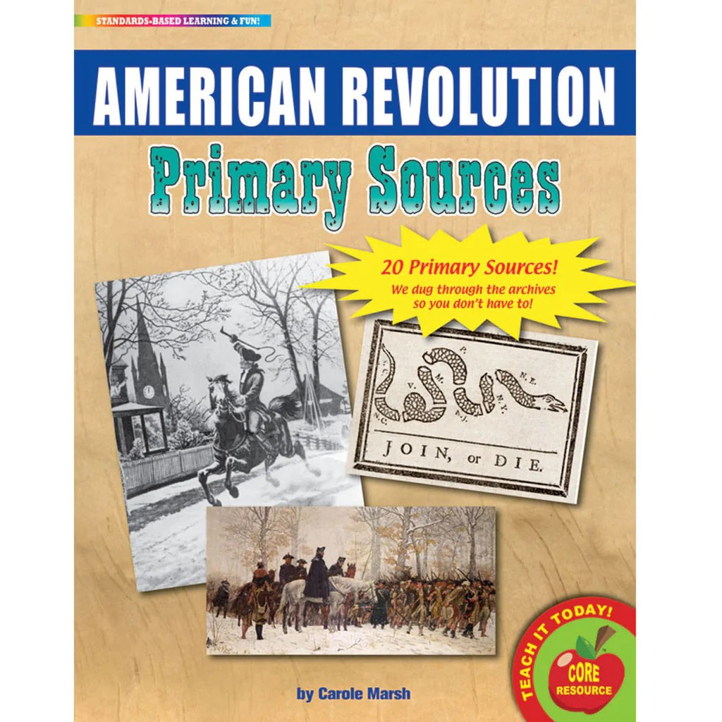 medium resolution of Gallopade The American Revolution Primary Sources Pack   GALPSPAME –  SupplyMe