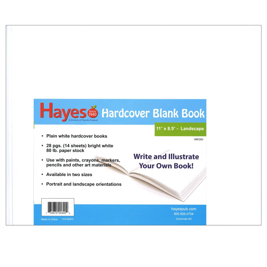 hight resolution of Hayes School Publishing Hardcover Blank Book