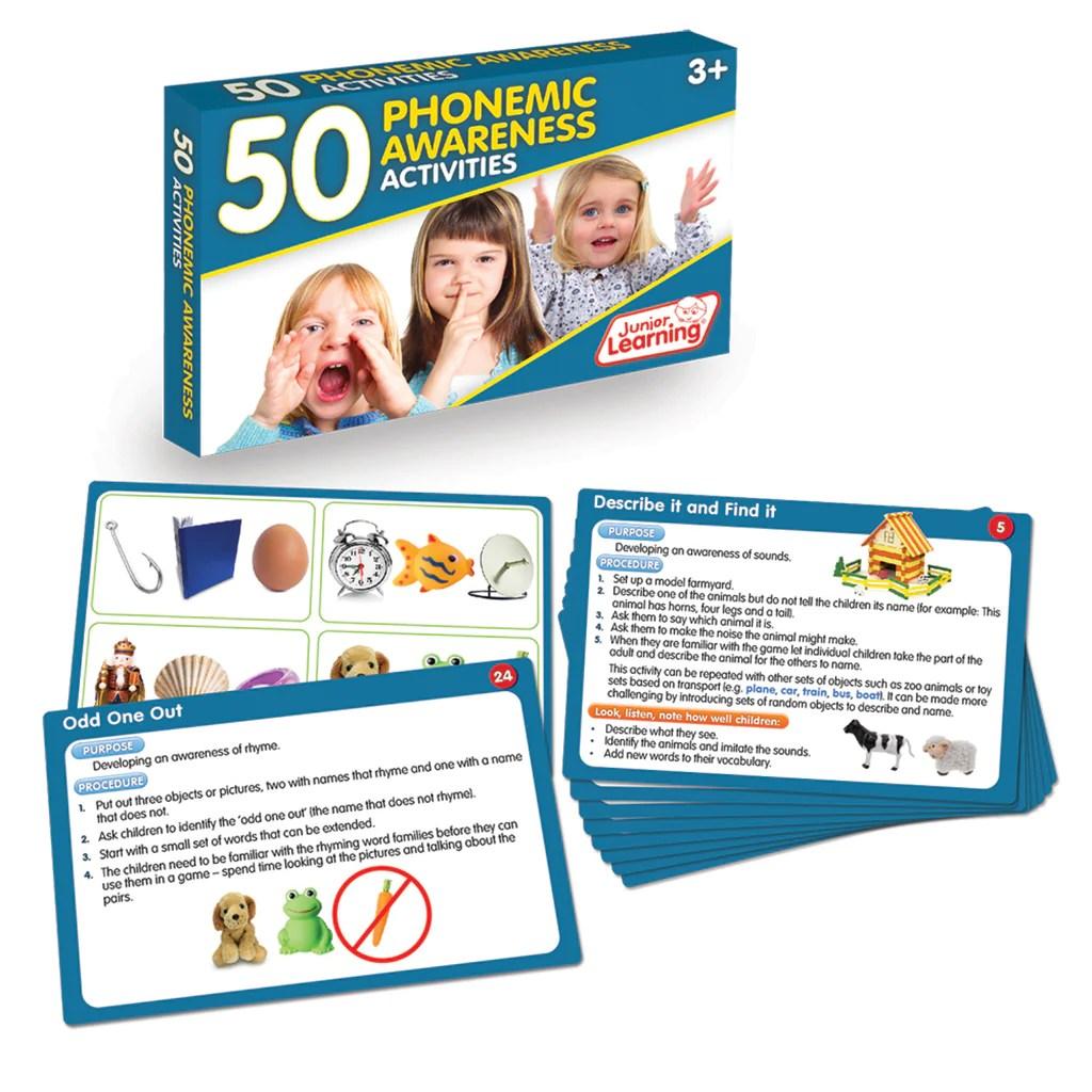 Junior Learning 50 Phonemic Awareness Activities   JRL351 – SupplyMe [ 1024 x 1024 Pixel ]
