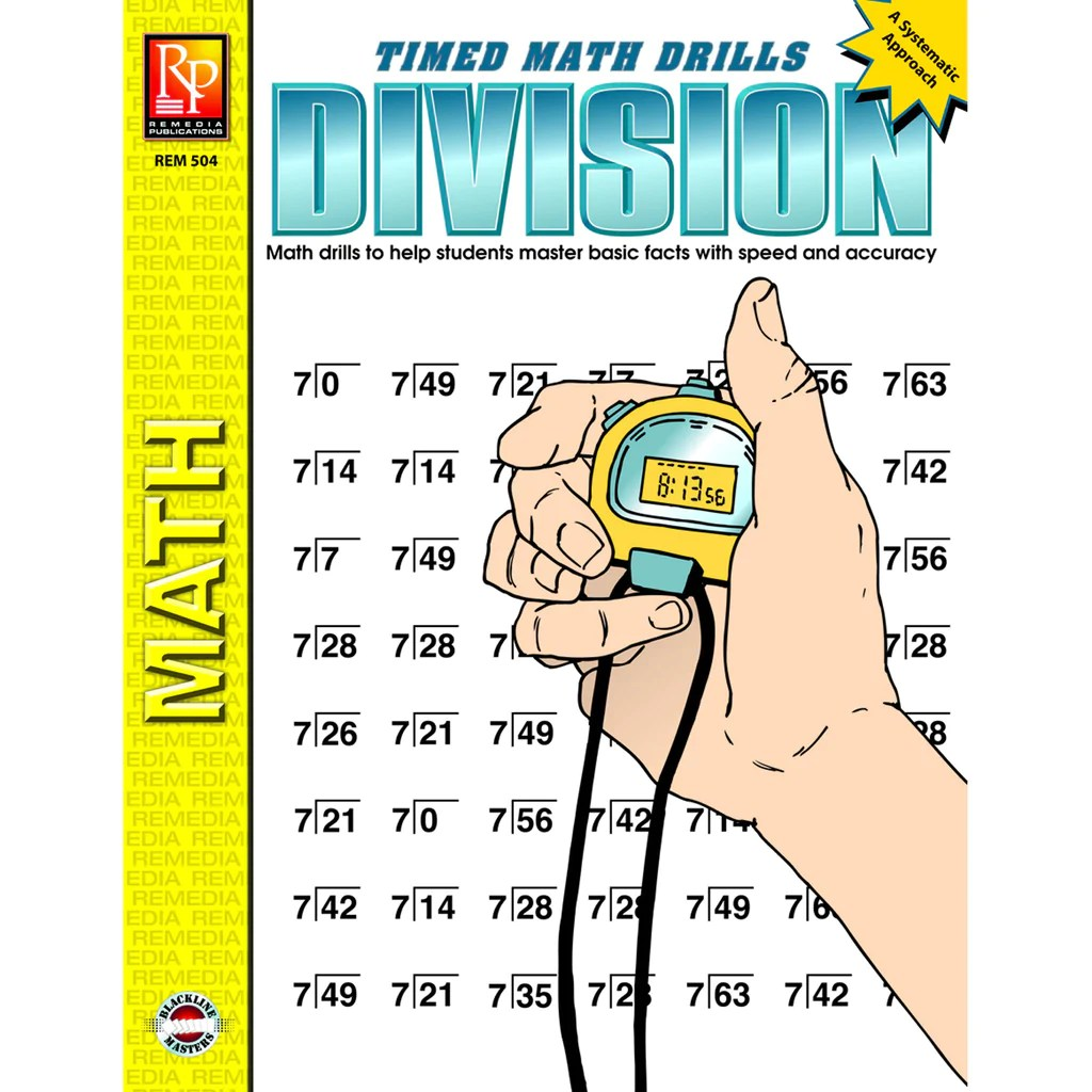 small resolution of Remedia Publications Timed Math Drills Division Activity Book   REM504 –  SupplyMe