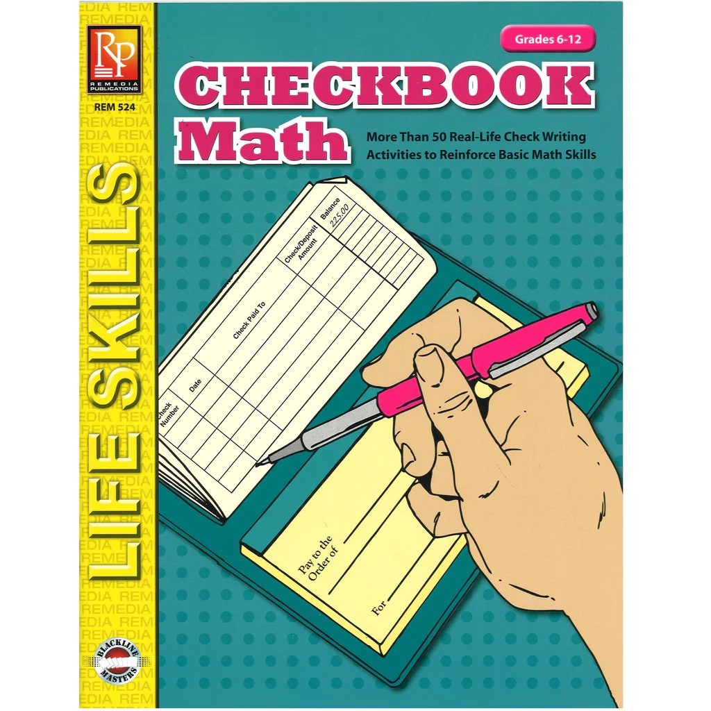 small resolution of Remedia Publications Life Skills Activity Book: Checkbook Math   REM524 –  SupplyMe