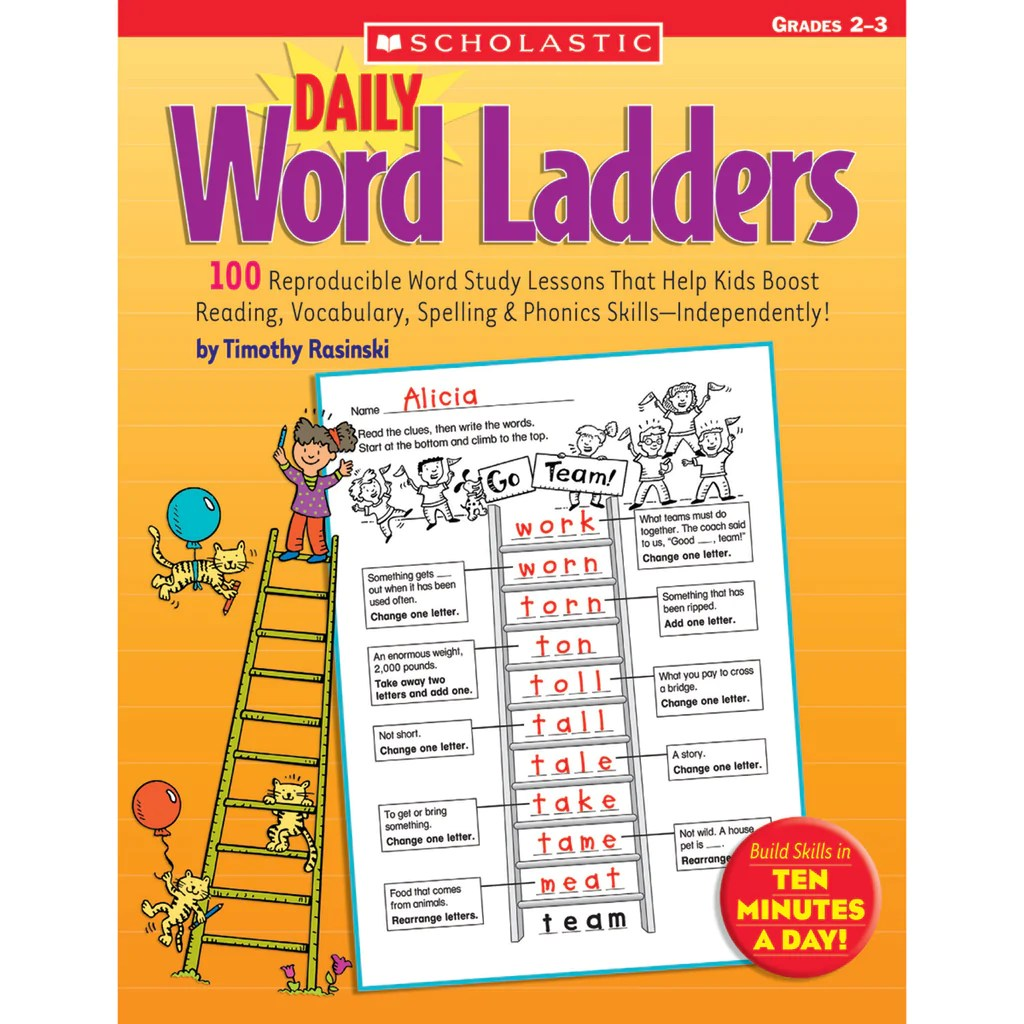 hight resolution of Scholastic Daily Word Ladders: Grades 2–3   SC-0439513839 – SupplyMe
