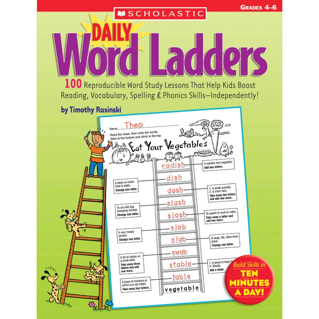 medium resolution of Scholastic Daily Word Ladders: Grades 4–6   SC-0439773458 – SupplyMe