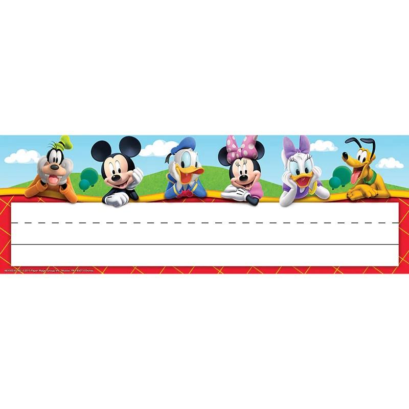 Eureka Mickey Mouse Clubhouse Self Adhesive Name Plates