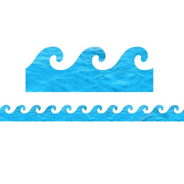 Hygloss Products Ocean Waves DieCut Bulletin Board Border