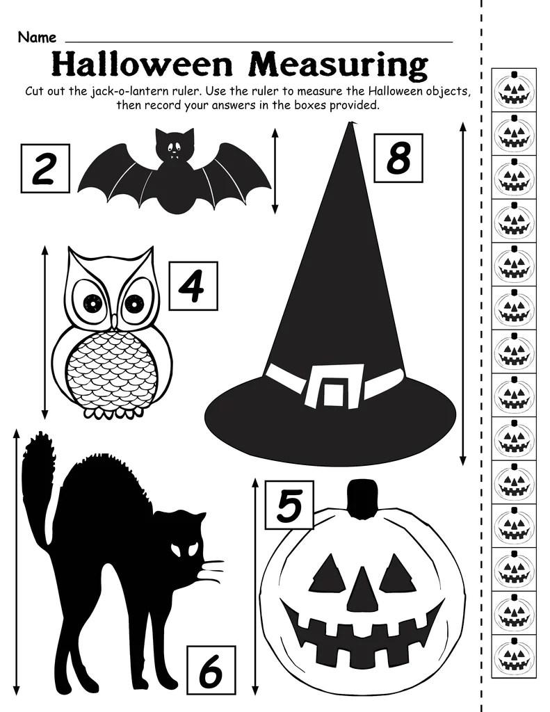 Printable Halloween Measuring Worksheet/Activity! – SupplyMe [ 1024 x 791 Pixel ]