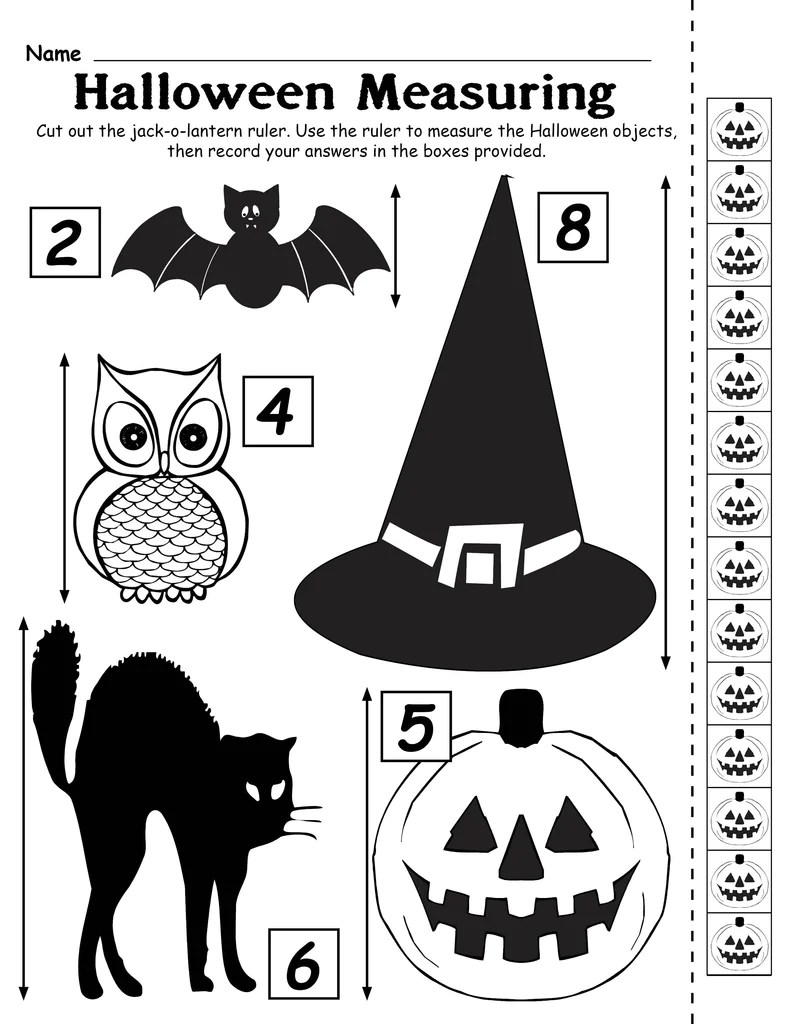 medium resolution of Printable Halloween Measuring Worksheet/Activity! – SupplyMe