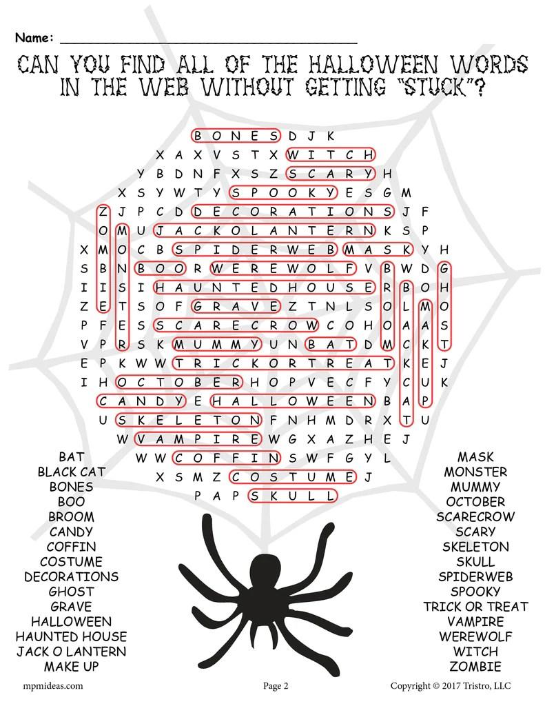 small resolution of Printable Halloween Word Search! – SupplyMe