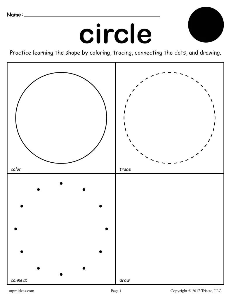 Circle Worksheet - Color [ 1024 x 791 Pixel ]