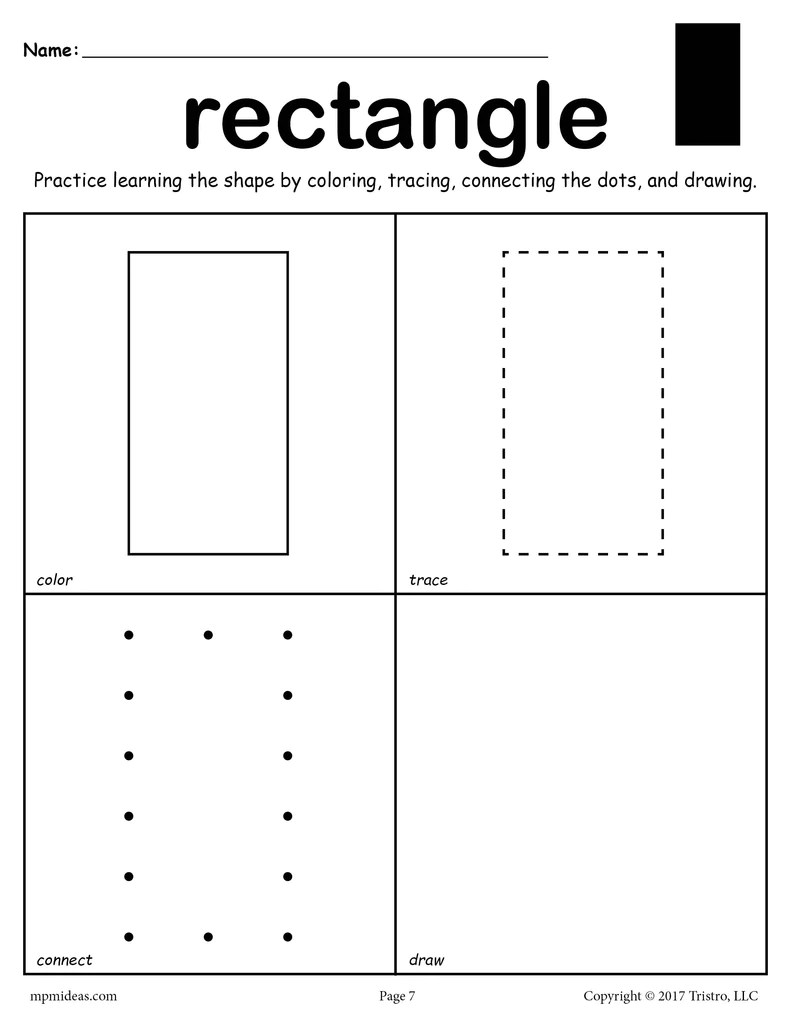 hight resolution of Rectangle Worksheet - Color