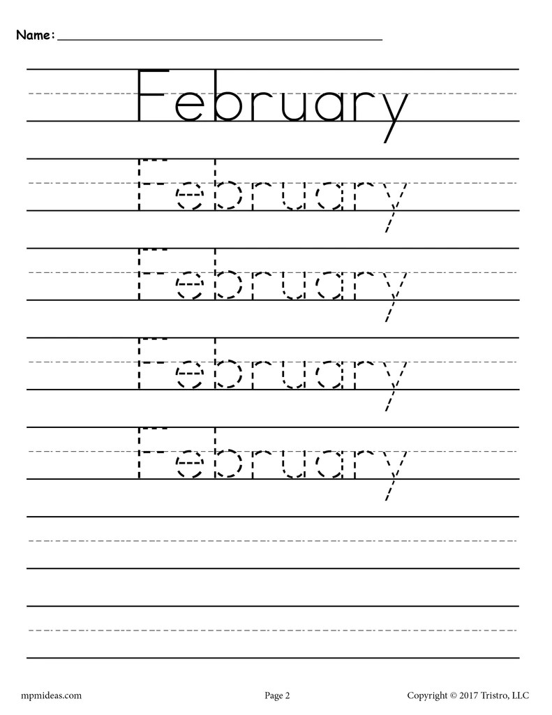 hight resolution of 12 Handwriting Worksheets - Months of the Year! – SupplyMe