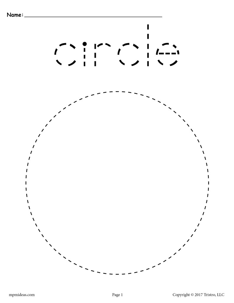 Circle Tracing Worksheet - Printable Tracing Shapes Worksheets – SupplyMe [ 1024 x 791 Pixel ]