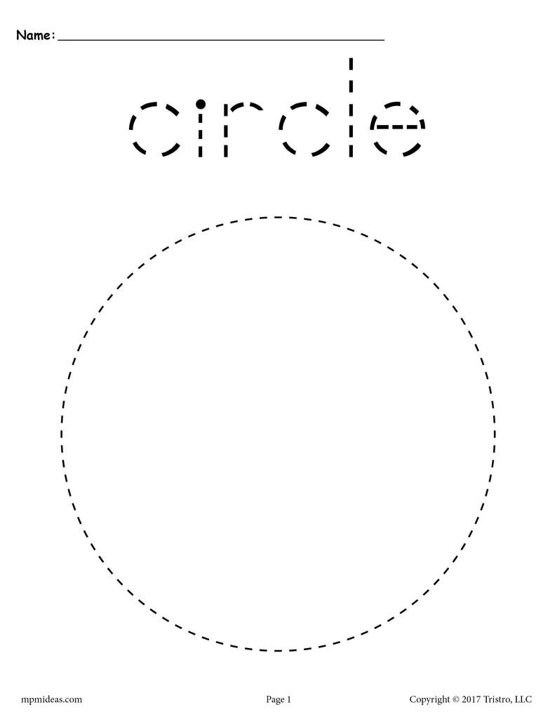 small resolution of Circle Tracing Worksheet - Printable Tracing Shapes Worksheets – SupplyMe