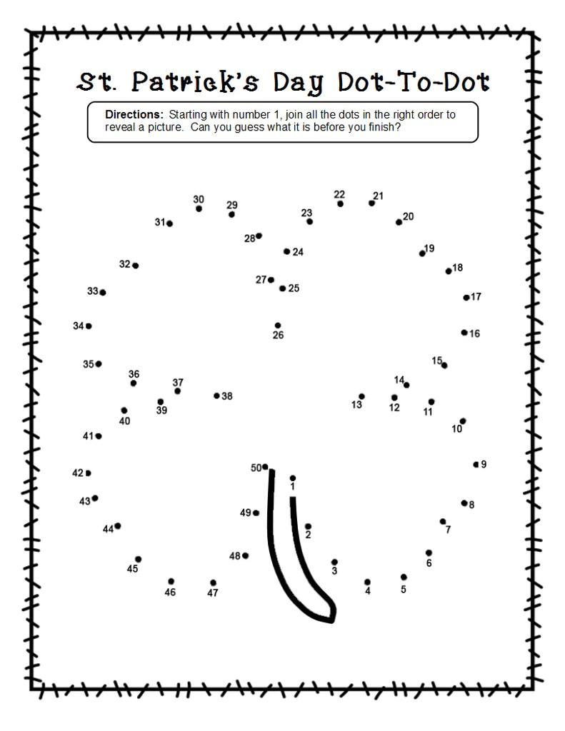 2 Shamrock Dot-To-Dot Worksheets for St. Patrick's Day! – SupplyMe [ 1024 x 791 Pixel ]