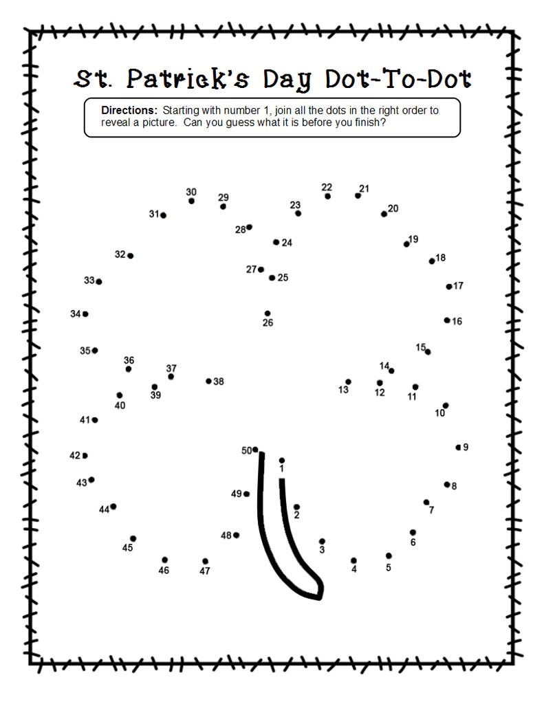 small resolution of 2 Shamrock Dot-To-Dot Worksheets for St. Patrick's Day! – SupplyMe