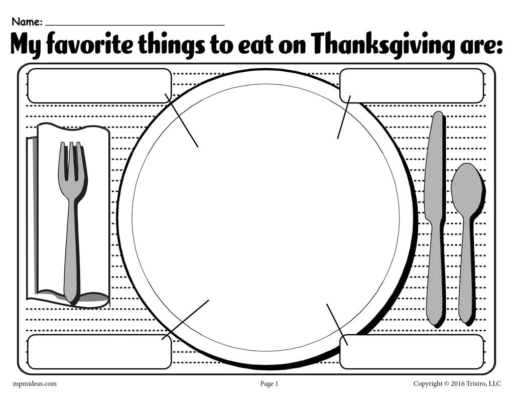 My Favorite Things To Eat On Thanksgiving\ Printable Worksheet! – SupplyMe [ 791 x 1024 Pixel ]