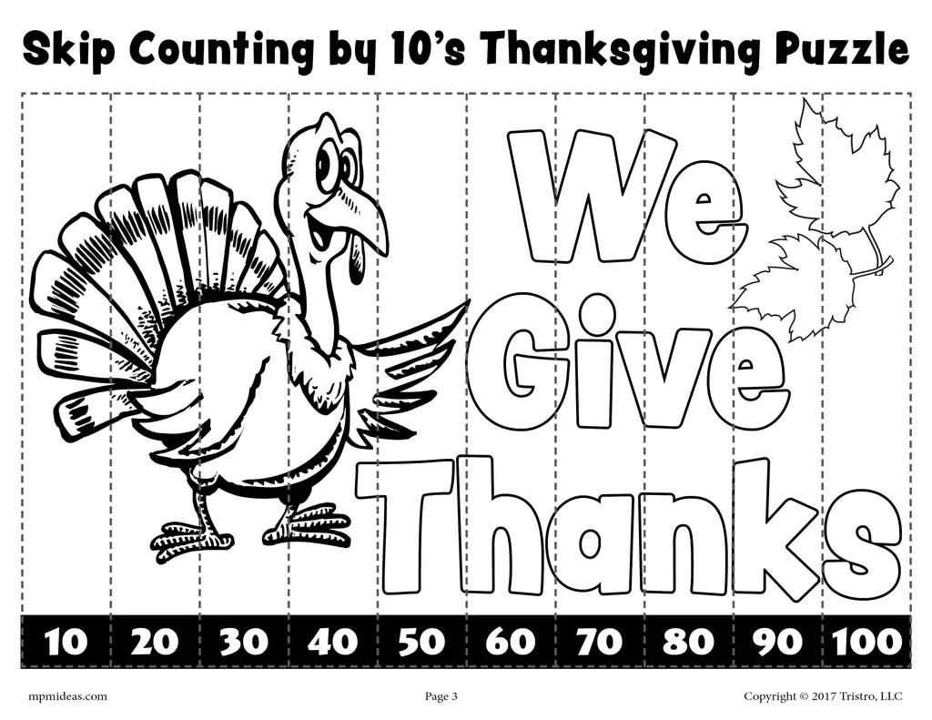 hight resolution of 6 Printable Thanksgiving Skip Counting Worksheets - Skip Counting By 2 –  SupplyMe