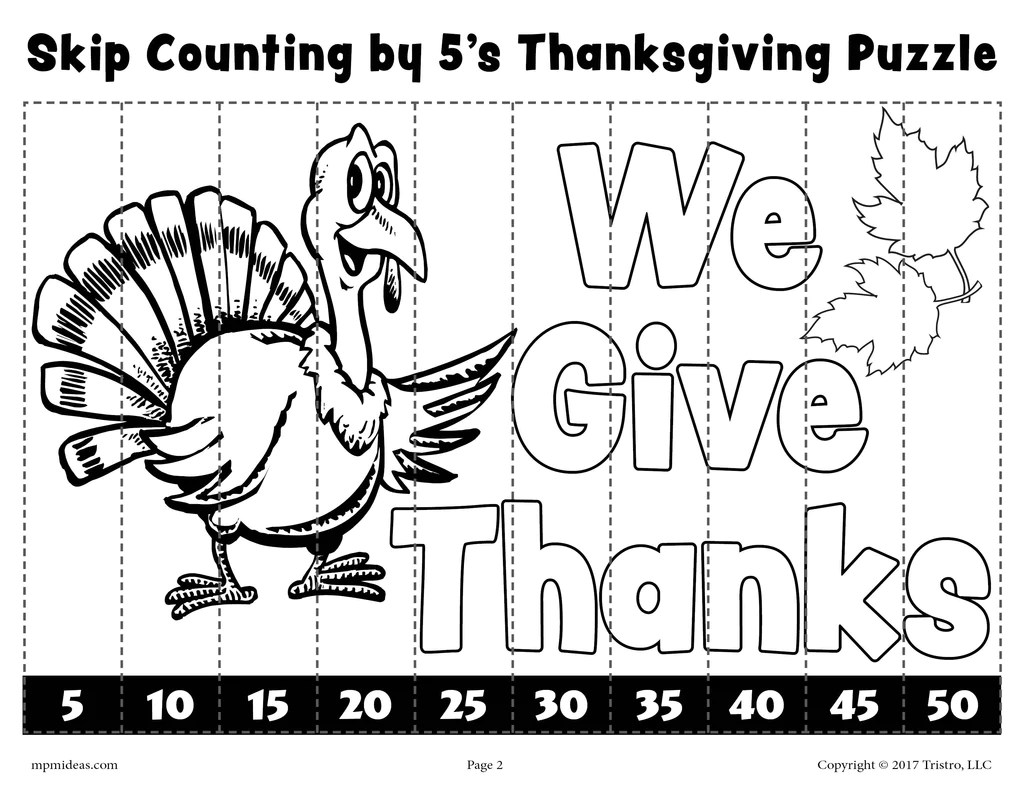 6 Printable Thanksgiving Skip Counting Worksheets - Skip Counting By 2 –  SupplyMe [ 791 x 1024 Pixel ]