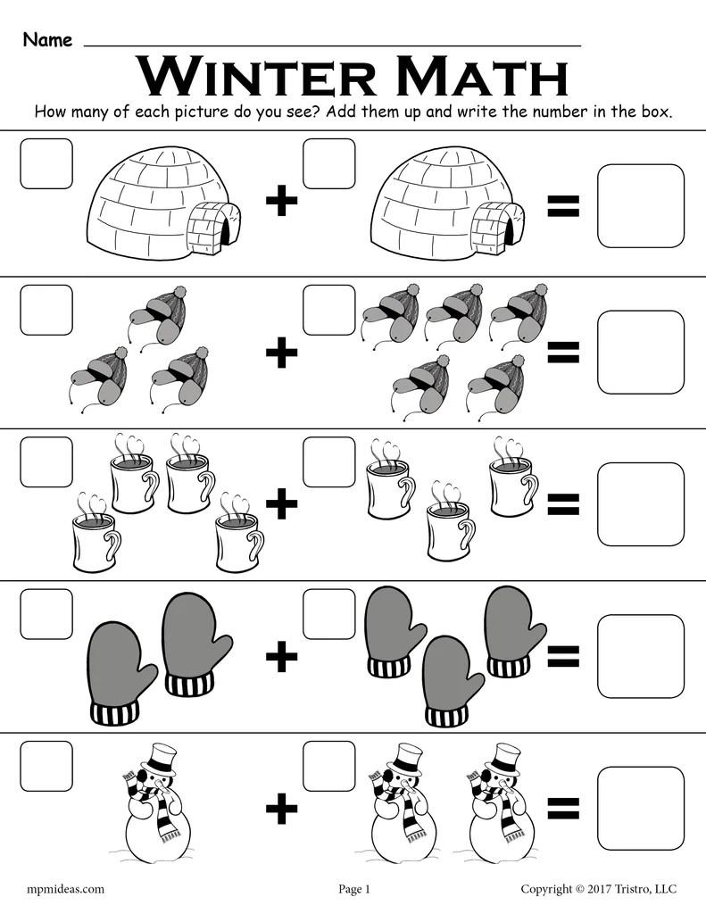 medium resolution of Kindergarten Addition Worksheets With Pictures - Kindergarten