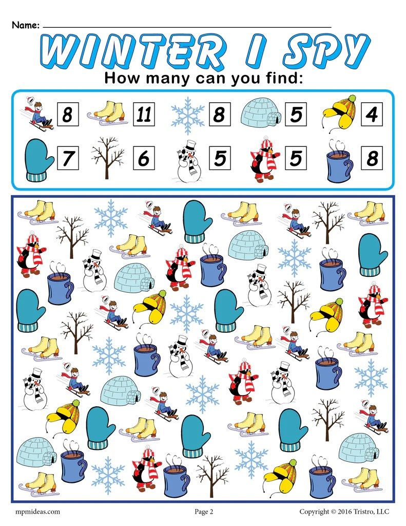 medium resolution of Winter I Spy - Printable Winter Counting Worksheet! – SupplyMe