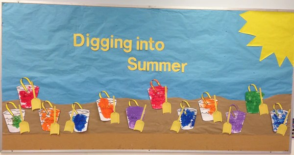 Digging into Summer Bulletin Board Idea  SupplyMe