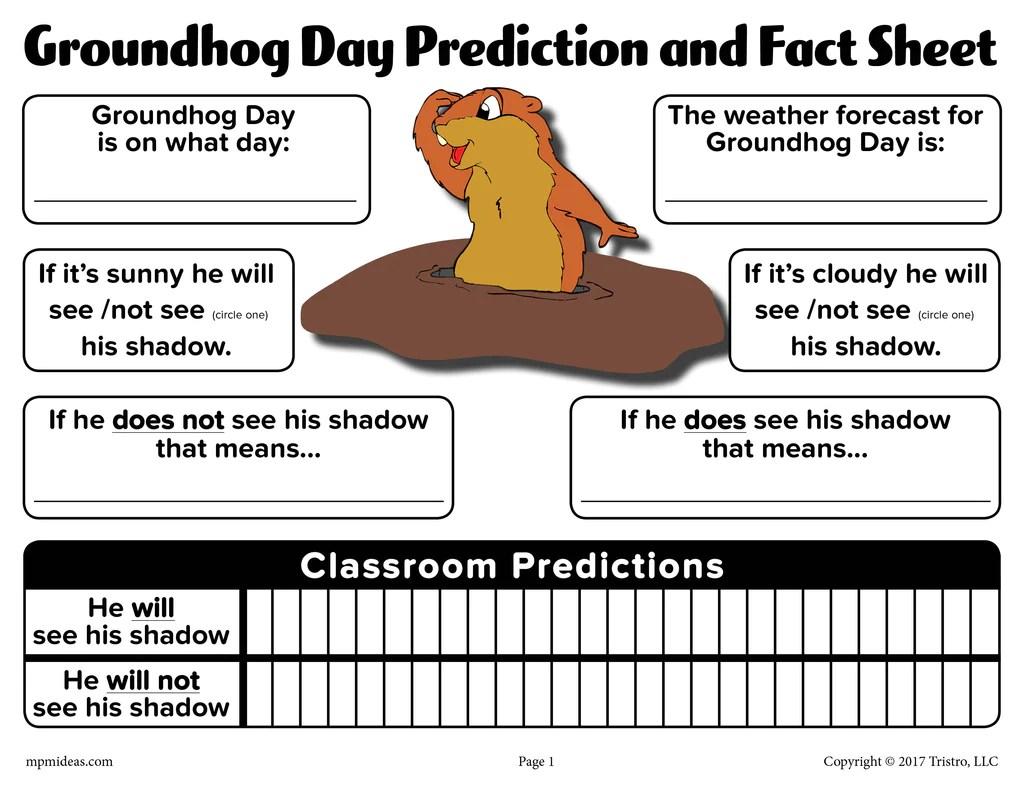 Groundhog Day Prediction \u0026 Discussion Worksheet – SupplyMe [ 791 x 1024 Pixel ]