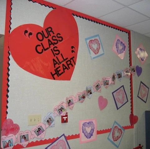 Our Class is All Heart  Valentines Day Bulletin Board