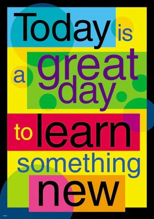 Today is  great day to  argus poster also classroom posters and charts educational motivational supplyme rh