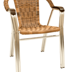 Stackable Restaurant Chairs Cradle Rocking Chair Aluminum Synthetic Wicker Armchair E32 Direct Com