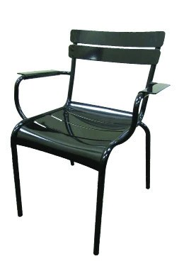 outdoor restaurant chairs high top table chair height metal arm black finish o c25 direct